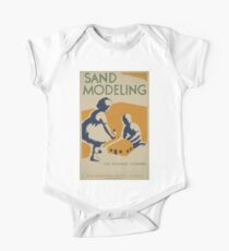 WPA United States Government Work Project Administration Poster 0515 Sand Modelling for Younger Chilren Kids Clothes