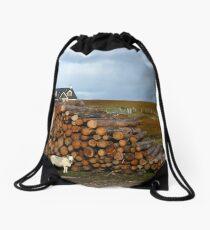 C'mon Baaaaa-by, Light My Scottish Fire Drawstring Bag