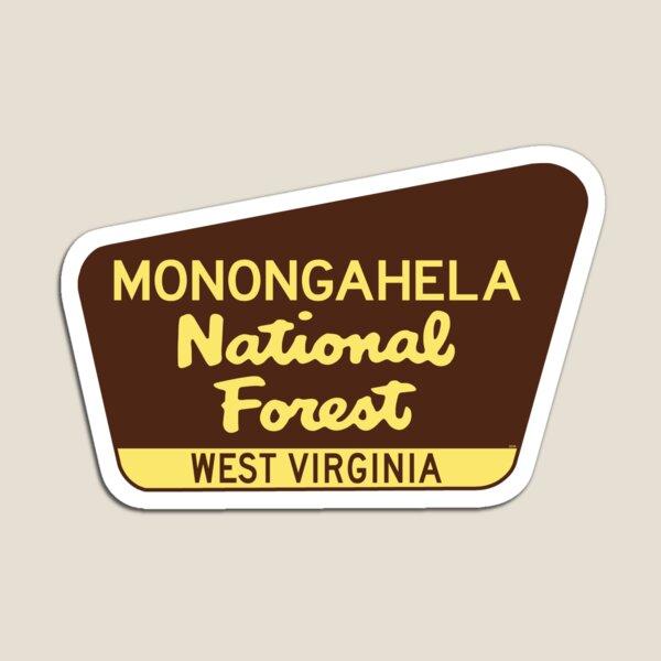 Monongahela National Forest West Virginia Laptop Luggage Bumper  Magnet