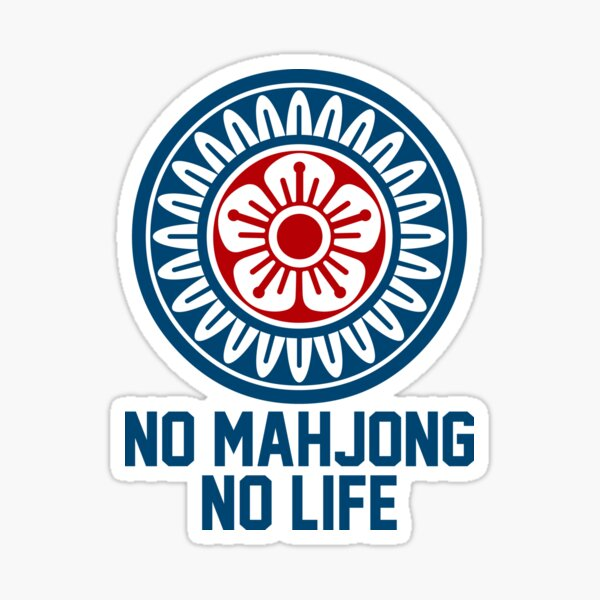 麻雀牌 1筒 NO MAHJONG NO LIFE /ONE OF CIRCLES Sticker