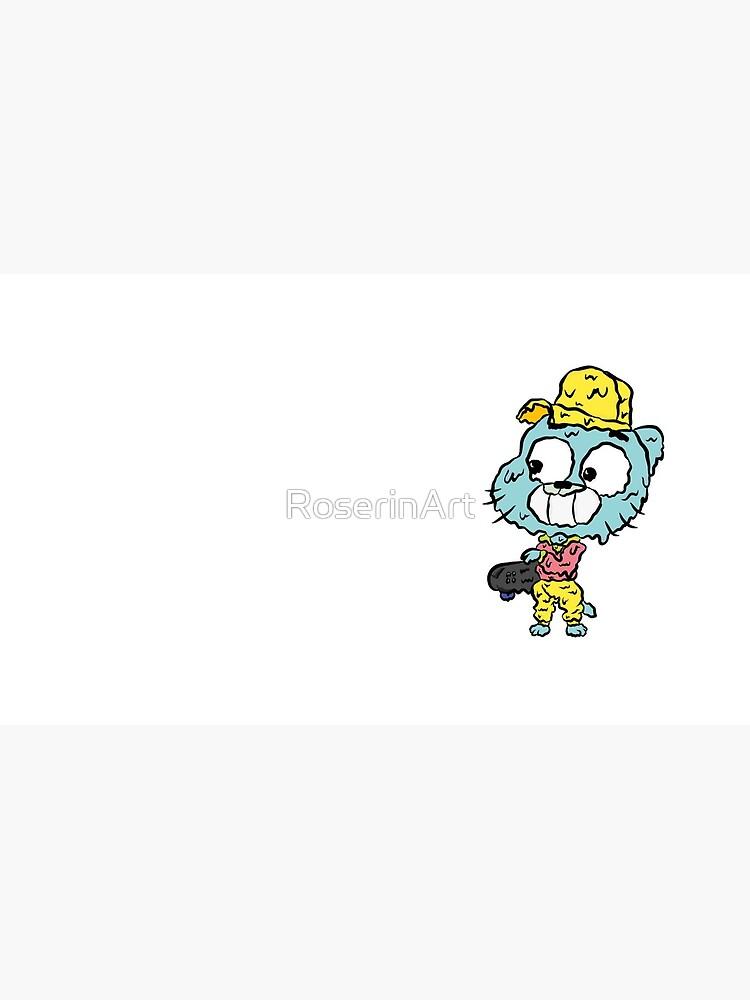 Skater Gumball - The Amazing World of Gumball by RoserinArt