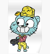 Skater Gumball - The Amazing World of Gumball Poster
