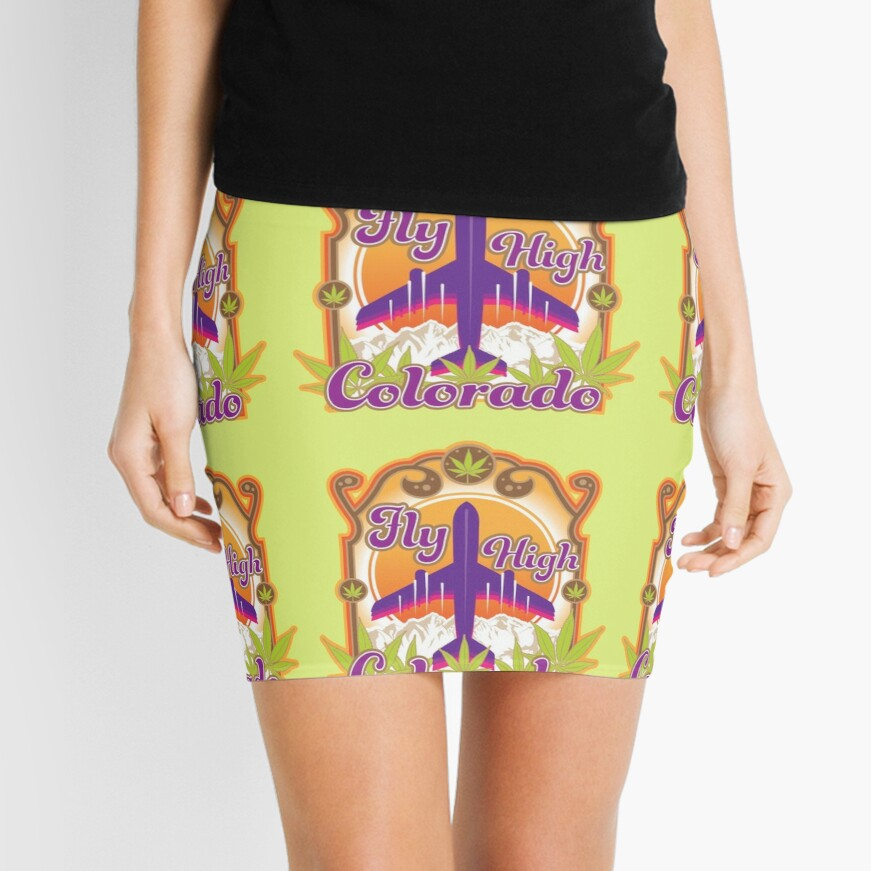 Fly High Colorado Mini Skirt