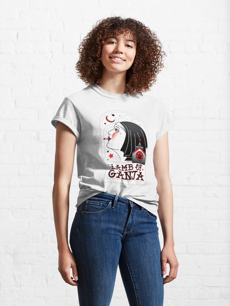 Alternate view of Lamb of Ganja Classic T-Shirt