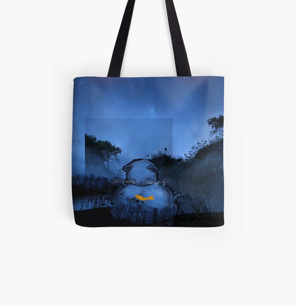 Chat bocal All Over Print Tote Bag