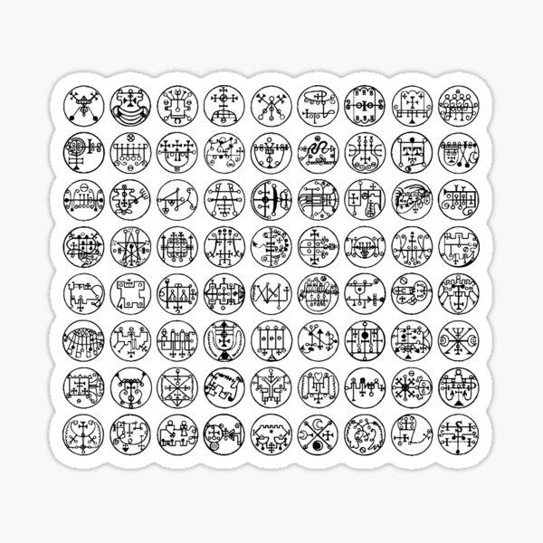 72 Lesser Keys Of Solomon Sticker