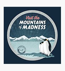 Visit the Mountains of Madness - Round Photographic Print