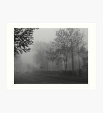 Foggy suburbia Art Print