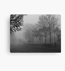 Foggy suburbia Canvas Print