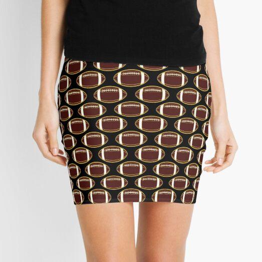 Garnet and Gold Football All-Over Pattern Mini Skirt