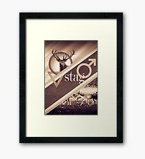 Stag Poster Framed Print
