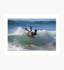 Bodyboarder - Culburra Beach Art Print