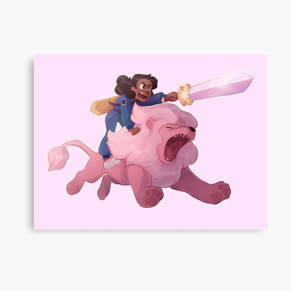 Connie and Lion Canvas Print