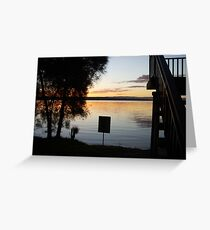 Lake Macquarie Sunset 3 Greeting Card