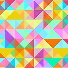 Geometric Shape Triangle Pattern 02 by JHMimaging