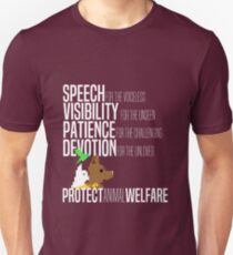 Protect Animal Welfare (white text) T-Shirt