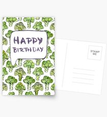 Broccoli Happy Birthday Postcards