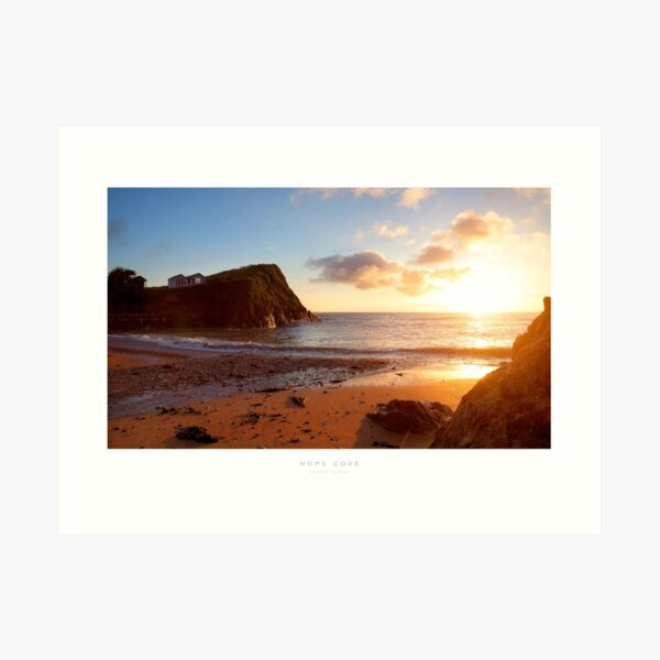 Hope Cove, Devon Art Print