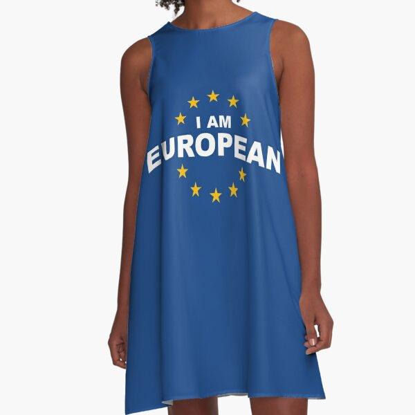 I Am European A-Line Dress
