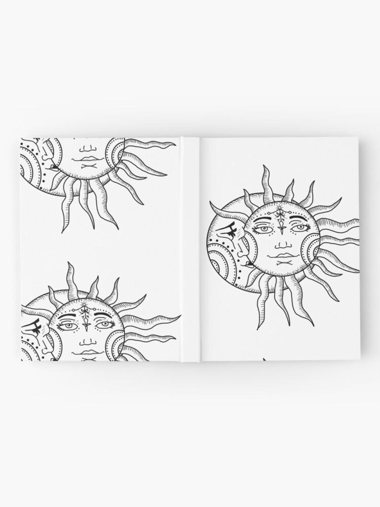 Alternative Ansicht von Sonne und Mond Notizbuch