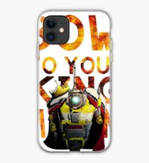 Bow to your King Cl4p-tp (claptrap) iPhone Case