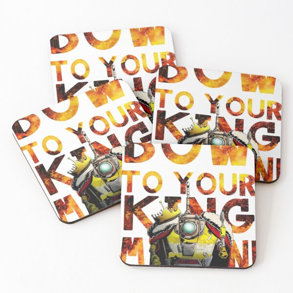 Bow to your King Cl4p-tp (claptrap) Coasters (Set of 4)