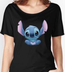 Camiseta ancha para mujer Stitch Heart
