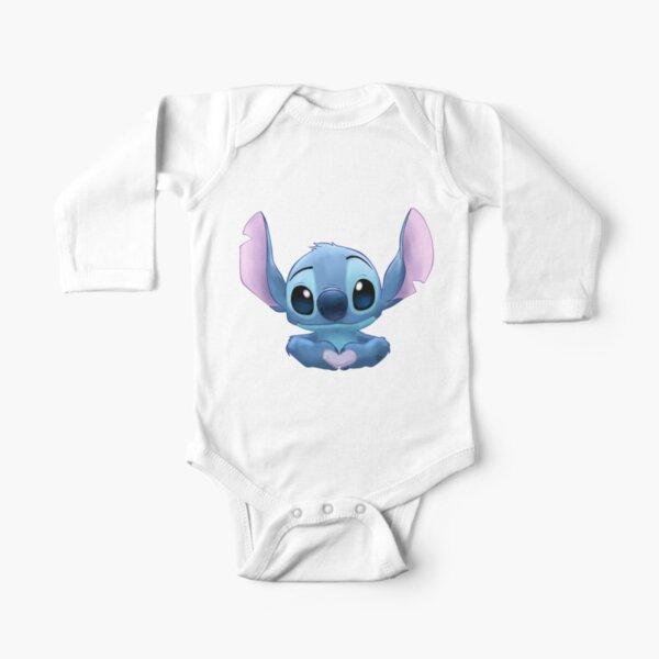 Stitch Heart Body de manga larga para bebé