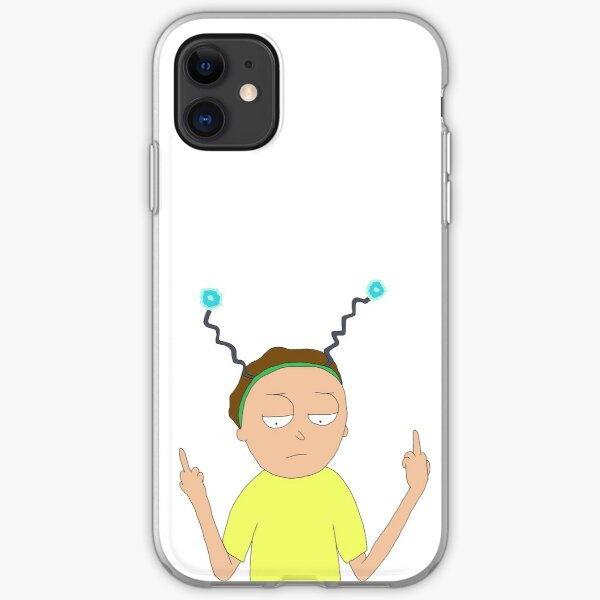 Peace among worlds Morty! Rick and Morty fan art iPhone Soft Case
