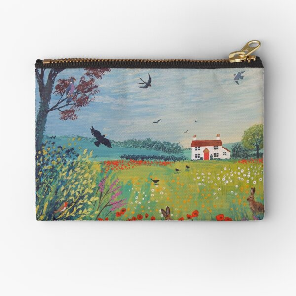 The House by Summer Meadow Zipper Pouch