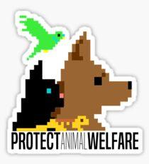 Protect Animal Welfare small design (black text) Sticker