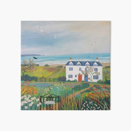 Beach View Cottages Art Board Print