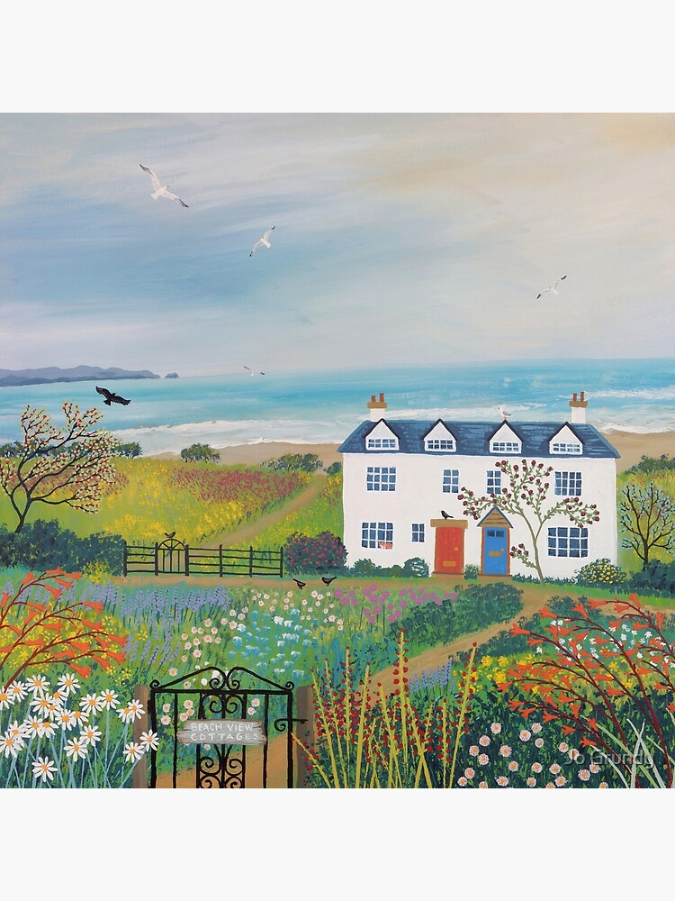 Beach View Cottages by Jogrundyart