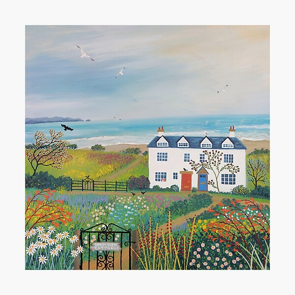 Beach View Cottages Photographic Print