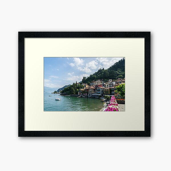 Picture Perfect Waterfront - Charismatic Varenna Lake Como Lombardy Italy Framed Art Print