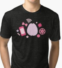 Girl's Brain Pattern Tri-blend T-Shirt