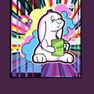 Psychedelic Sleepy Bunny  by purplesmoke17