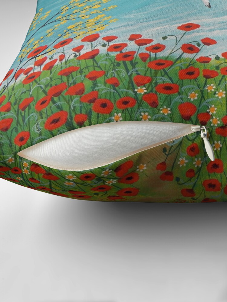 Alternate view of The Path to Poppy Bay Throw Pillow