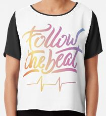 Follow the beat in colors Chiffon Top