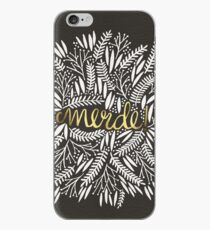 Pardon My French – Gold on Black iPhone Case