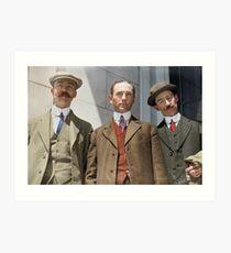 3 surviving crew members of RMS Titanic Art Print