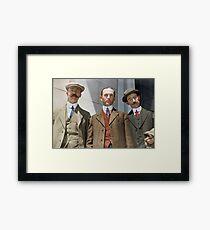 3 surviving crew members of RMS Titanic Framed Print