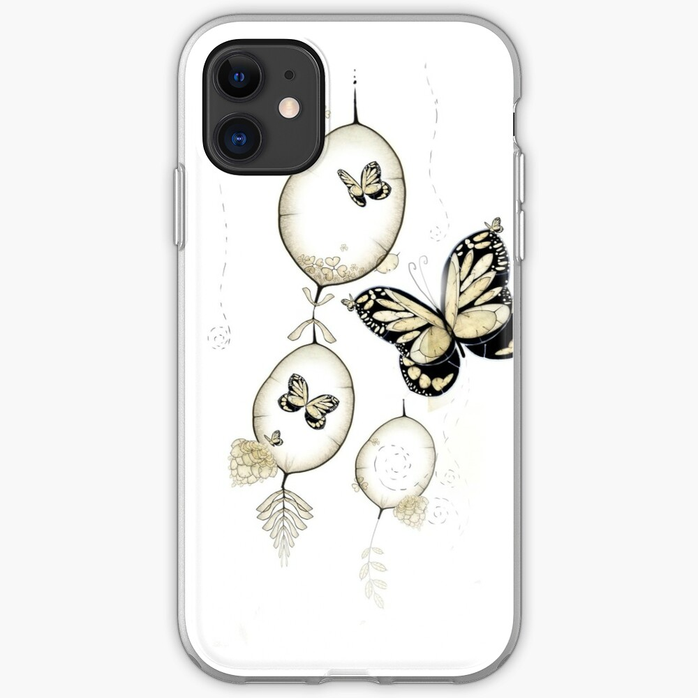 Papillon du Monde Graine - Seed world butterfly iPhone Soft Case