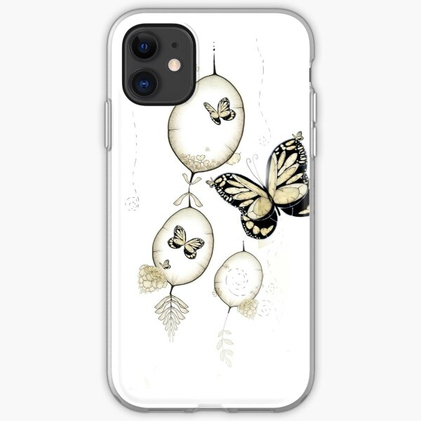 Papillon du Monde Graine - Seed world butterfly iPhone Soft Case