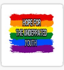 hope for the underrated youth yungblud rainbow edition Sticker