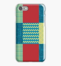 Patchwork Patterns - Muted Primary iPhone Case/Skin