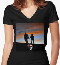 Hand in Hand Women's Fitted V-Neck T-Shirt