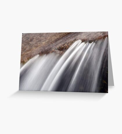 Water abstract  VII Greeting Card