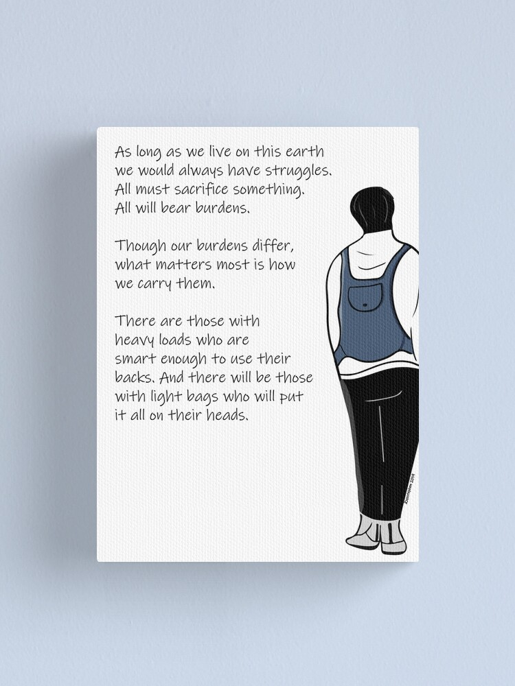 Alternate view of How We Carry Our Burdens Canvas Print