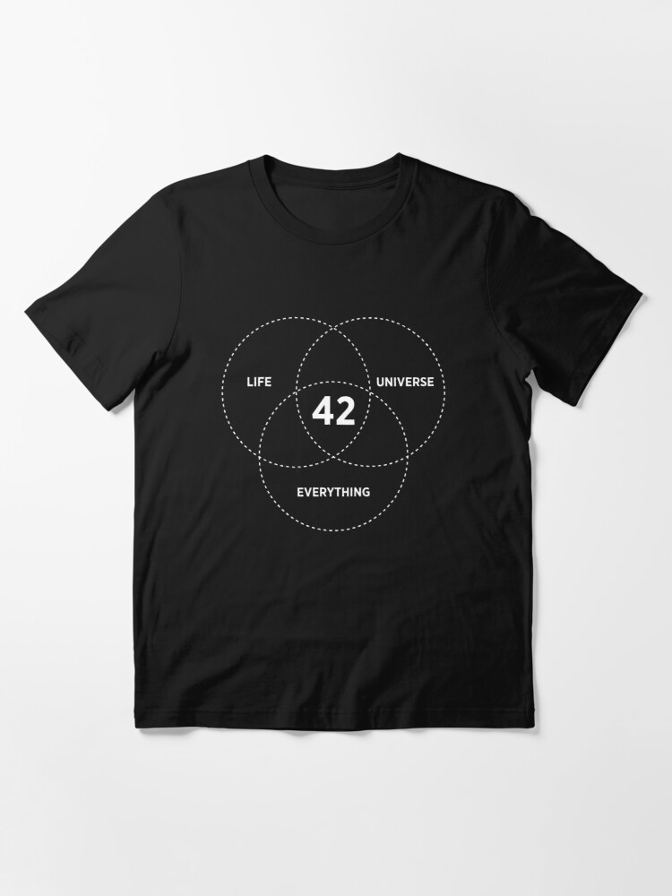 Alternate view of The Answer To Life The Universe And Everything Essential T-Shirt
